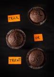 Σοκολάτα αποκριών cupcake Στοκ Εικόνες