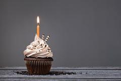 Σοκολάτα γενέθλια Cupcake Στοκ Φωτογραφίες