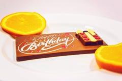 σοκολάτα γενεθλίων ευ& στοκ φωτογραφίες