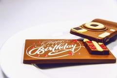 σοκολάτα γενεθλίων ευ& στοκ φωτογραφία