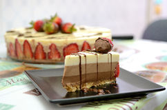 σοκολάτα κέικ σπιτική Στοκ Φωτογραφία