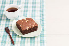 Σοκολάτα κέικ brownies Στοκ Εικόνες