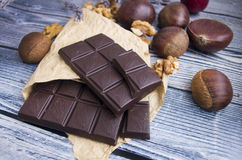 Σοκολάτα και κάστανα Στοκ φωτογραφία με δικαίωμα ελεύθερης χρήσης