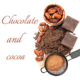 Σοκολάτα και κακάο στοκ εικόνες με δικαίωμα ελεύθερης χρήσης