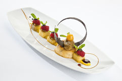 Σοκολάτα καραμέλας μπανανών Στοκ Φωτογραφίες
