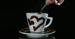 σοκολάτα καυτή απόθεμα βίντεο