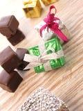 Σοκολάτα με τα κιβώτια δώρων Στοκ Εικόνα