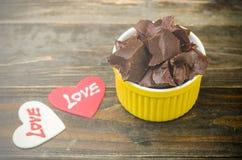 Σοκολάτα με την αγάπη Στοκ Εικόνες