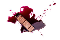 Σοκολάτα με το στάλαγμα αίματος στοκ φωτογραφίες