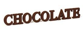 Σοκολάτα στις τρισδιάστατες επιστολές Στοκ φωτογραφία με δικαίωμα ελεύθερης χρήσης