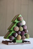 Σοκολάτα Χριστουγέννων Στοκ Εικόνα