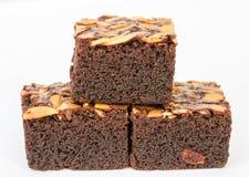 Σοκολάτα brownies με τα καρύδια Στοκ Εικόνες
