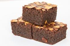 Σοκολάτα brownies με τα καρύδια Στοκ φωτογραφίες με δικαίωμα ελεύθερης χρήσης