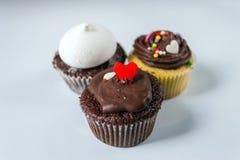 Σοκολάτα buttercream cupcakes Στοκ φωτογραφίες με δικαίωμα ελεύθερης χρήσης