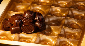 Σοκολάτα candys Στοκ φωτογραφία με δικαίωμα ελεύθερης χρήσης