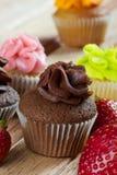 Σοκολάτα cupcake Στοκ φωτογραφία με δικαίωμα ελεύθερης χρήσης