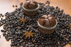 Σοκολάτα cupcake 1 Στοκ φωτογραφία με δικαίωμα ελεύθερης χρήσης
