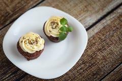 Σοκολάτα cupcakes (browny) Στοκ φωτογραφίες με δικαίωμα ελεύθερης χρήσης
