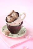 Σοκολάτα Macarons Στοκ Εικόνα