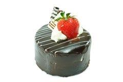Σοκολάτα Shortcake με τη φράουλα Στοκ εικόνες με δικαίωμα ελεύθερης χρήσης