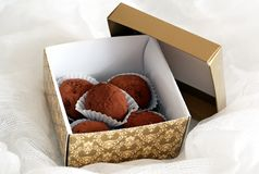 σοκολάτες κιβωτίων Στοκ Φωτογραφίες