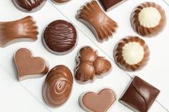 Σοκολάτες με τις διαφορετικές μορφές Στοκ φωτογραφίες με δικαίωμα ελεύθερης χρήσης