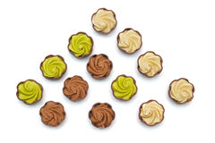 σοκολάτες που τίθεντα&iota Στοκ εικόνες με δικαίωμα ελεύθερης χρήσης