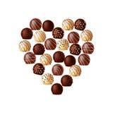 Σοκολάτες υπό μορφή καρδιάς απεικόνιση αποθεμάτων