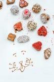 σοκολάτες χειροποίητ&epsilon Στοκ εικόνες με δικαίωμα ελεύθερης χρήσης