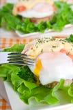 σολομός αυγών του Benedict Στοκ Φωτογραφία