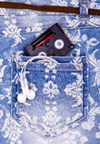 Σορτς τζιν παντελόνι τζιν Στοκ Εικόνα