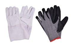 Σουέτ και υφαντικά γάντια για τους εργαζομένους που απομονώνονται στο άσπρο υπόβαθρο στοκ φωτογραφία με δικαίωμα ελεύθερης χρήσης