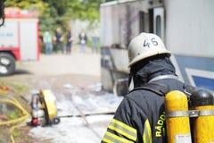 Σουηδικός εθελοντής πυροσβέστης Στοκ φωτογραφία με δικαίωμα ελεύθερης χρήσης