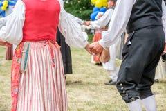 Σουηδικός λαϊκός χορός στοκ φωτογραφία με δικαίωμα ελεύθερης χρήσης