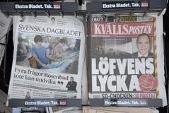 ΣΟΥΗΔΙΚΕΣ MEDIA ΚΑΙ ΕΚΛΟΓΈΣ Στοκ Φωτογραφίες