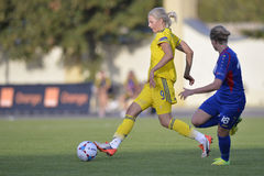 Σουηδικός θηλυκός ποδοσφαιριστής - Lina Hurtig Στοκ εικόνες με δικαίωμα ελεύθερης χρήσης