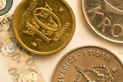 Σουηδικός στενός επάνω νομίσματος Στοκ εικόνες με δικαίωμα ελεύθερης χρήσης
