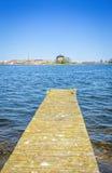 Σουηδικό ξύλινο περιοδικό σκονών υπόδειξης παλαιό στο νησί πόλεων Karlskrona Στοκ φωτογραφία με δικαίωμα ελεύθερης χρήσης