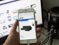 Σουηδικό webpage της IKEA Διαδίκτυο στην Πολωνία Στοκ Φωτογραφία