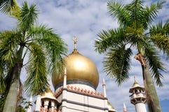 σουλτάνος Σινγκαπούρης μουσουλμανικών τεμενών Στοκ φωτογραφία με δικαίωμα ελεύθερης χρήσης