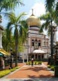 σουλτάνος Σινγκαπούρης μουσουλμανικών τεμενών στοκ εικόνα