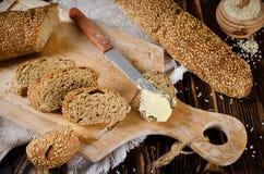 σουσάμι σπόρων ψωμιού Στοκ Εικόνες