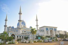 Σουλτάνος Haji Ahmad Shah Masjid 1 μουσουλμανικό τέμενος σε Kuantan, Μαλαισία Στοκ Φωτογραφία