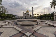 Σουλτάνος Omar Ali Saifuddien Mosque στο Μπρουνέι Στοκ εικόνα με δικαίωμα ελεύθερης χρήσης