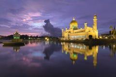Σουλτάνος Omar Ali Saifuddien Mosque στο Μπρουνέι Στοκ Φωτογραφία