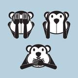 Σοφός πίθηκος τρία ελεύθερη απεικόνιση δικαιώματος