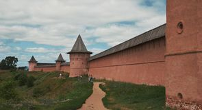 Σούζνταλ, ΡΩΣΙΑ - 29 Ιουλίου 2018: Μοναστήρι του ST Euthymius Στοκ φωτογραφία με δικαίωμα ελεύθερης χρήσης