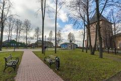 Σούζνταλ, Ρωσία -06 11 2015 Το τετράγωνο μπροστά από το μοναστήρι του ST Euthymius στο Σούζνταλ χτίστηκε 16ος αιώνας Στοκ Φωτογραφίες