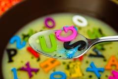 Σούπα αλφάβητου Στοκ Φωτογραφίες