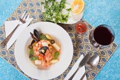 σούπα γαρίδων θαλασσινών &mu Στοκ Εικόνα